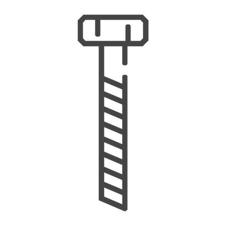 Carpentry screw bolt line icon. Simple illustration of carpentry screw bolt vector