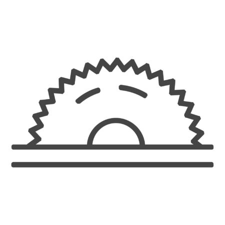 Circular saw line icon on white background