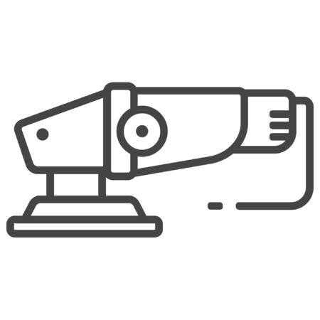 Electrical sander icon on white background Ilustracja