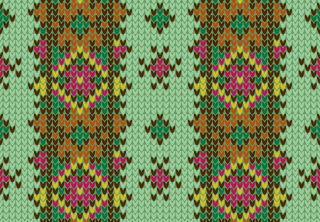Knitted seamless pattern. Illustration