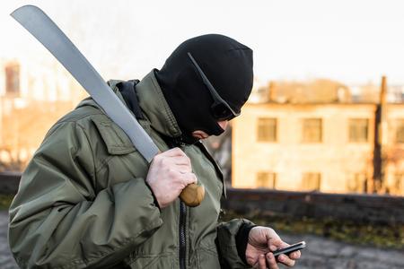 Ninja with sword calls