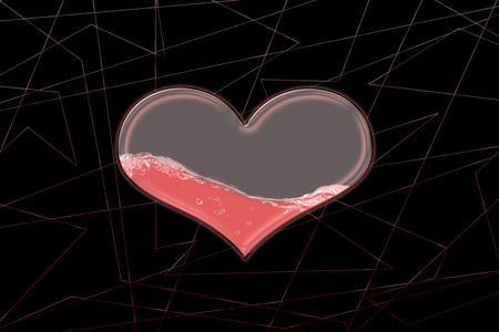 Glass heart Reklamní fotografie
