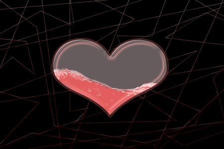 Glass heart 스톡 콘텐츠