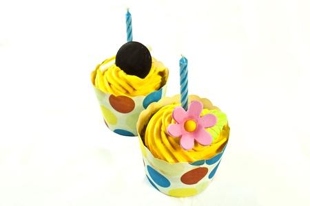 Birthday cupcakes Stock Photo - 14870921