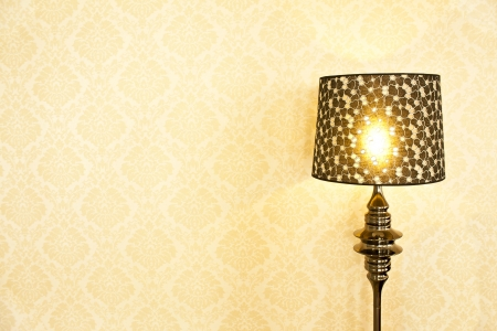 home accents: stylish black lamp