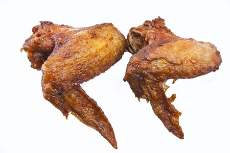 Fried Chicken Wings on white background  photo
