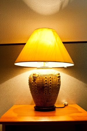 Table lamp in the bed room  photo