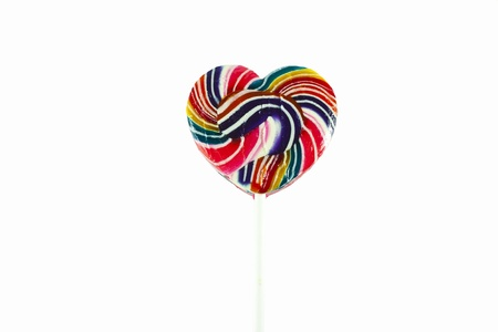lolly pop: Colorful spiral lollipop lolly pop on a white background