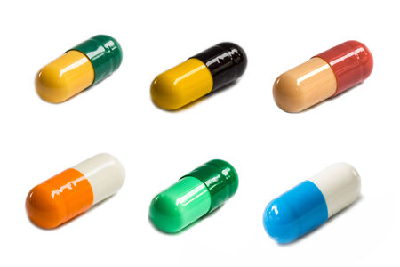 Colorful capsules set photo