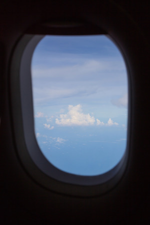 clouds in the aircraft photo