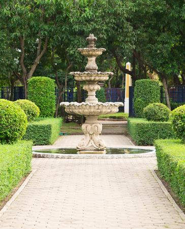 Three steps of fountain photo
