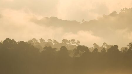 Rainy mountain in Southern of Thailand photo