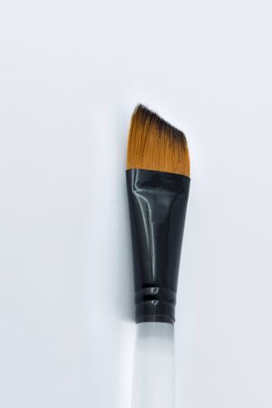 brush in: Painting brush in brown color with clear stick Stock Photo