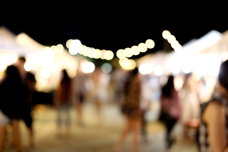 Blurry light and background of night market