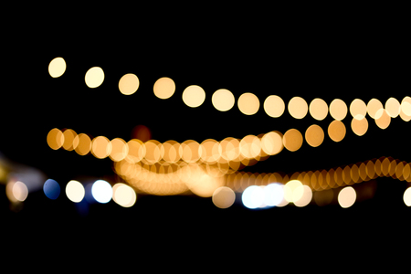 exhibition: Blurry of light in the place of night market in Thailand Stock Photo