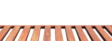 punctuate: Long wood bench for sitting isolated on white background