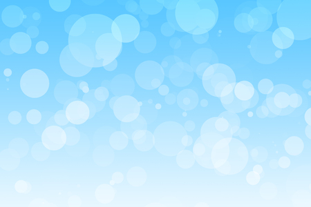Light blue background with soft white bubbles floating around