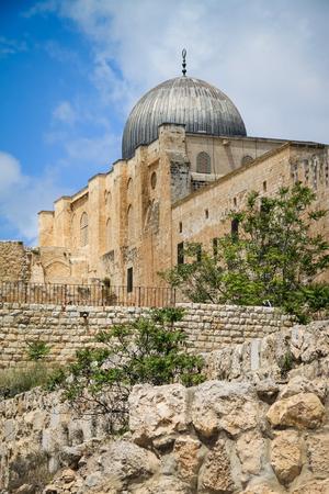 Al-Aqsa Mosque view, Tenple Mount, Old Jerusalem, Israel