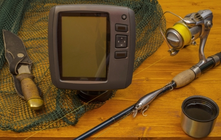 Set of fishing with spinning  Stock Photo - 17020031