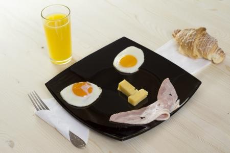 Breakfast with juice - smile  photo