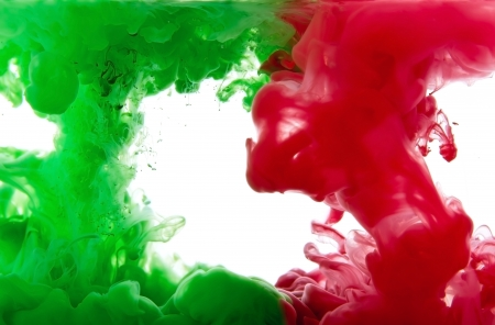 pigments: Dissolving liquid pigments in water