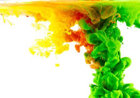 blending: Liquid color in motion Stock Photo