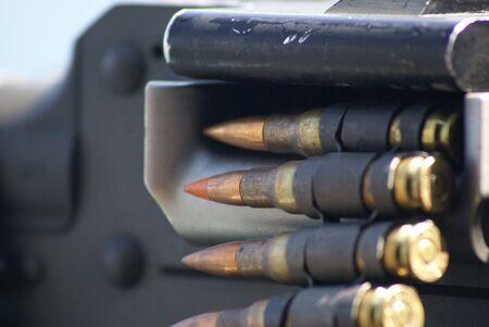 loaded: 50 cal bullets loaded in gun