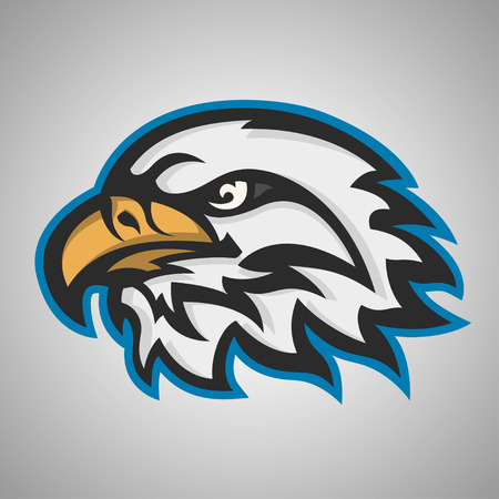 brave of sport: Mascot head of an eagle