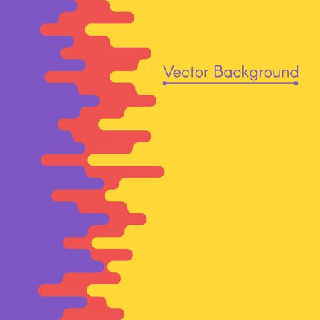 magma: Vector colorful flat background. Abstract illustration of magma or lava.