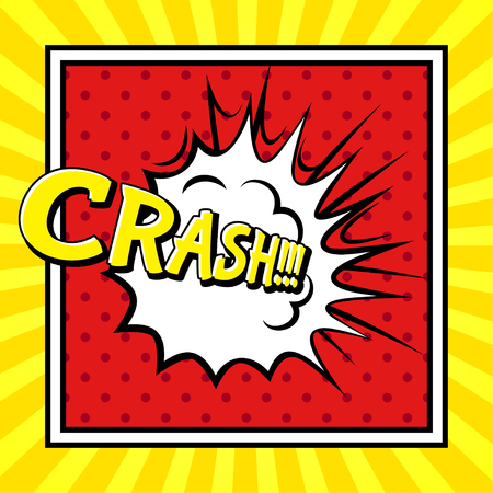 onomatopoeia: Comic sound Effect - Crash. Illustration