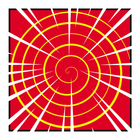 graphic novel: Vector comic spiral pattern