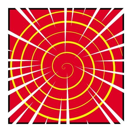 spiral pattern: Vector comic spiral pattern