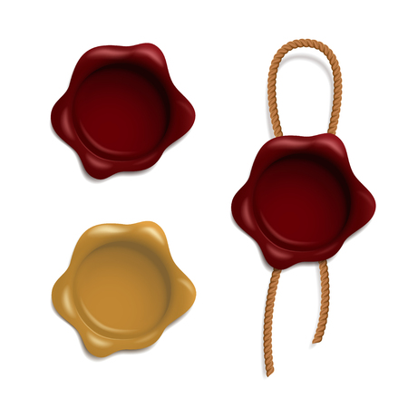 Vector set of wax seals Illustration