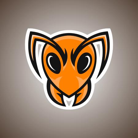hormiga caricatura: Ilustración del vector de la hormiga. mascota del deporte.