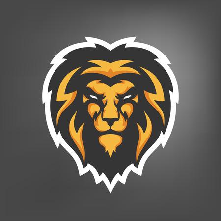 Vector illustration de la tête de lion. mascotte Sport. Vecteurs