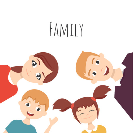 Vector set of happy young girls in different positions