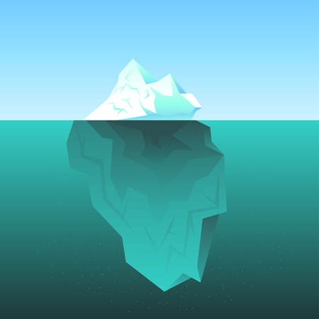 Vector background with Iceberg in the sea