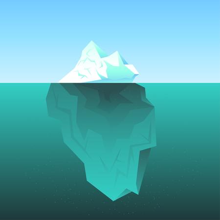 Wektor tła z lodowa na morzu Ilustracje wektorowe