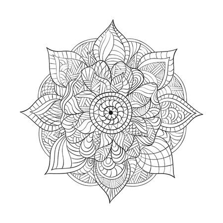 Vector Mandala Decorativo Para Adultos Libros Para Colorear ...