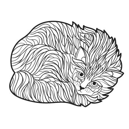 Vectorial Blanco Y Negro Dibujado A Mano Ilustración De Toro. Página ...