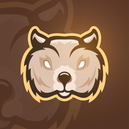 wombat: Ilustración del vector de wombat. Deporte logotipo de la mascota.