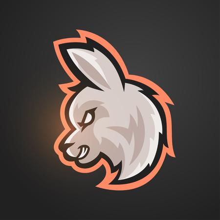 vicuna: Vector illustration of alpaca. Sport game mascot.