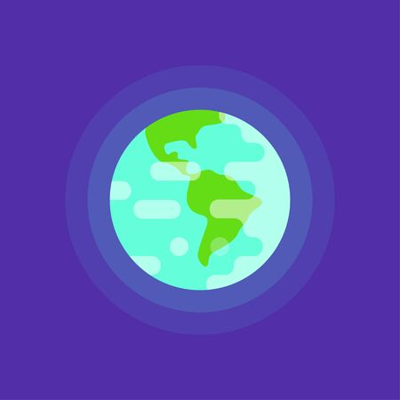 flat earth: Vector simple flat style illustration of planet Earth. Web icon.