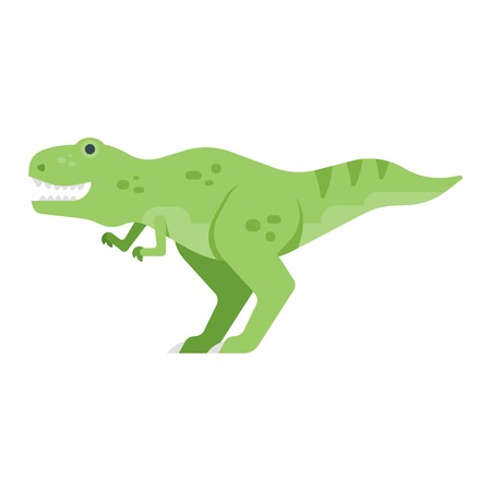 raptor: Vector flat style illustration of dinosaur. Icon for web. Isolated on white background. Illustration