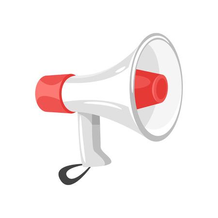 Vector cartoon style illustration of loudspeaker isolated on white background
