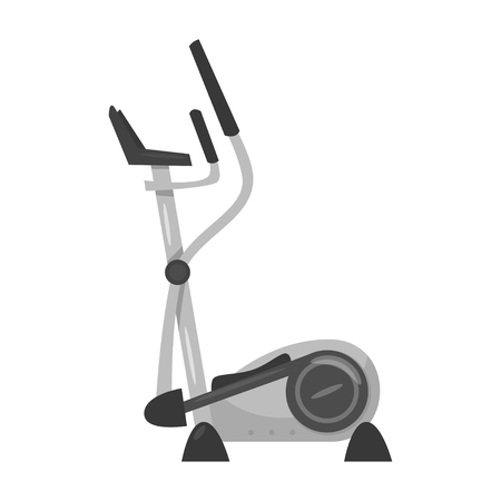 Vector cartoon style illustration of elliptical trainer for exercise. Isolated on white background.