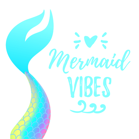 Vector cartoon style illustration of cute mermaid tail. Mermay concept. Mythical marine princess. Stock fotó - 101119991