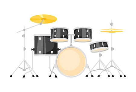 Music instrument - drum kit, design for any purposes. Vector illustration.