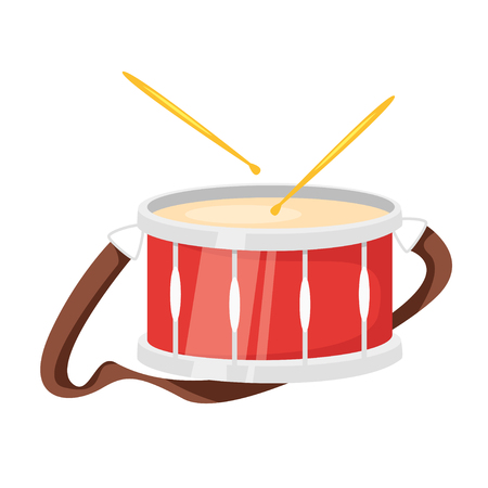 Music instrument - drum, design for any purposes. Vector illustration. Archivio Fotografico - 127701405