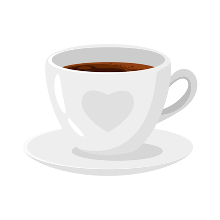 Coffee shop americano cup icon for menu design. Vector illustration, isolated on white background. Archivio Fotografico - 127141660